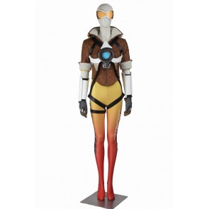 Overwatch Tracer Cosplay Costume Uniform Yellow