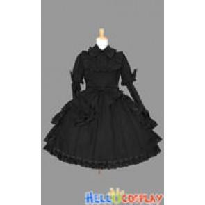 Sweet Lolita Gothic Punk Gorgeous Black Dress
