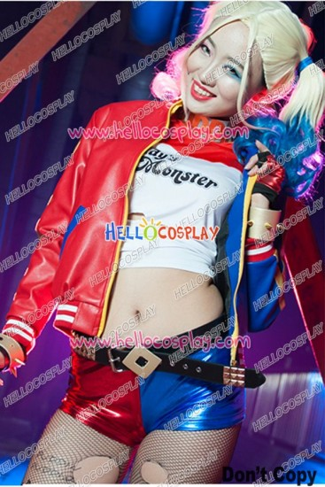 Suicide Squad Batman Harley Quinn Cosplay Costume Full Set