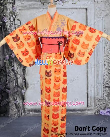 Vocaloid 2 Cosplay Rin Dress Costume Kimono Bathrobe