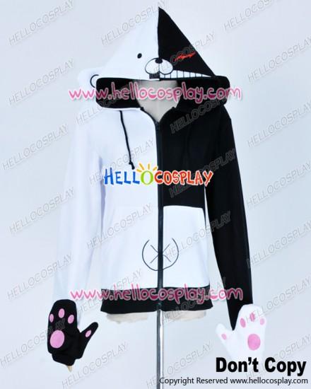 Danganronpa Dangan Ronpa Cosplay Black White Bear Schoolmaster Jacket Costume