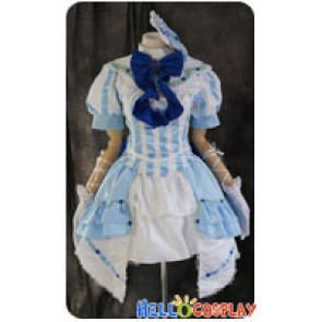 Vocaloid 2 Cosplay Miss Germany Megurine Luka Blue Lolita Dress Costume