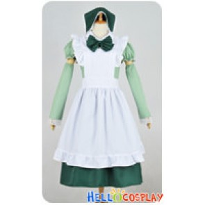 Axis Powers Hetalia APH Cosplay Hungary Maid Dress Costume Green Headpiece