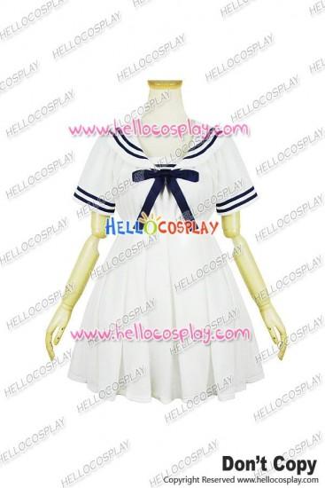 Lolita Cosplay Harajuku Navy Dress White