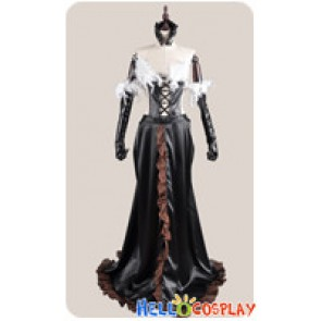Accel World Cosplay Kuroyukihime Black Snow Princess Lotus Dress Costume