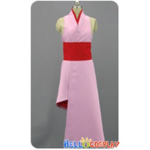 BlazBlue Calamity Trigger Cosplay Pink Kimono Dress Costume