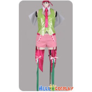 Macross Frontier Cosplay The End Of Triangle Ranka Lee Green Pink Costume