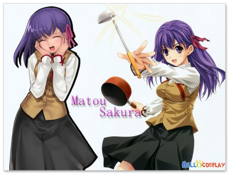 Fate/stay night Cosplay Homurabara Gakuen School Girl Uniform