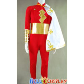 Captain Marvel Shazam Jumpsuit Cosplay Costume