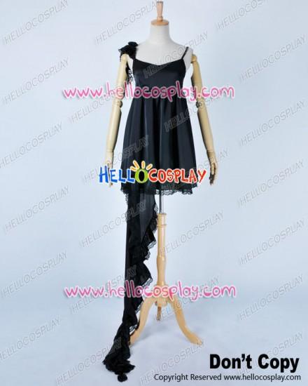 Vocaloid 2 Cosplay Deep Sea Girl Miku Black Fishtail Dress Costume