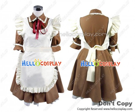Axis Powers Hetalia Cosplay Italy Rovino Costume Maid Dress