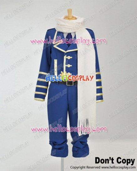 Tegami Bachi Letter Bee Cosplay Lag Seeing Blue Uniform Costume