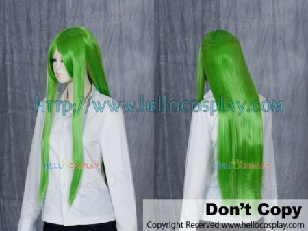 Green Yellow Medium Cosplay Wig