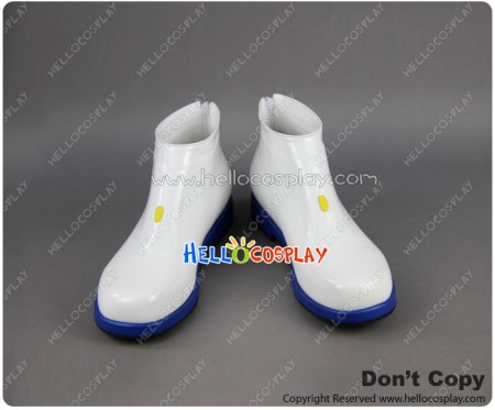 Vocaloid 2 Cosplay Shoes Kaito White Shoes