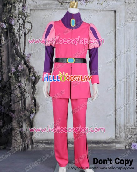 Adventure Time Cosplay Prince Gumball Costume Pink Uniform