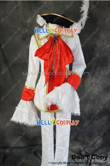 Axis Powers Hetalia APH Cosplay Hungary White Uniform Costume