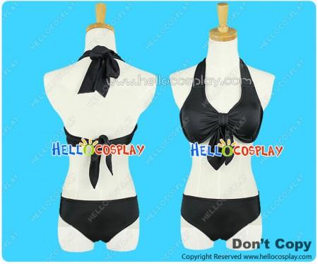 K On Cosplay Akiyama Mio Costume Swimsuit