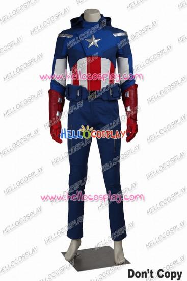 The Avengers Captain America Steve Rogers Cosplay Costume