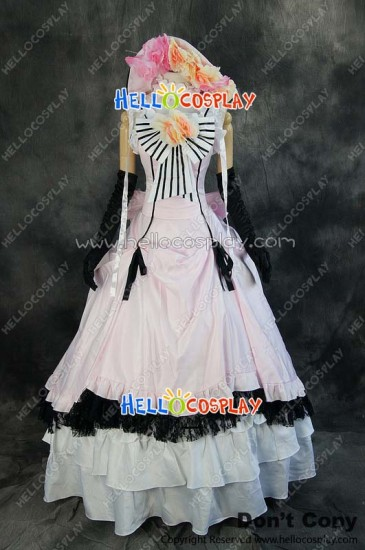 Black Butler Cosplay Ciel Phantomhive Pink Formal Dress Costume
