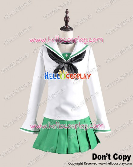 Girls Und Panzer Cosplay Saori Takebe School Girl Uniform Costume