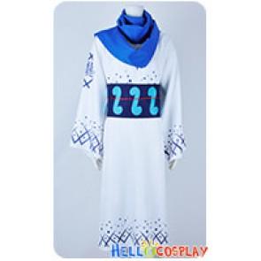 One Piece Cosplay Samurai Ryuma Blue White Kimono Costume