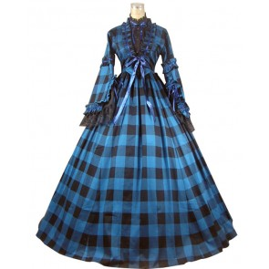 Civil War Blend Tartan Dress Ball Gown Prom