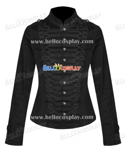Black My Chemical Romance Ladies Military Parade Jacket Costume