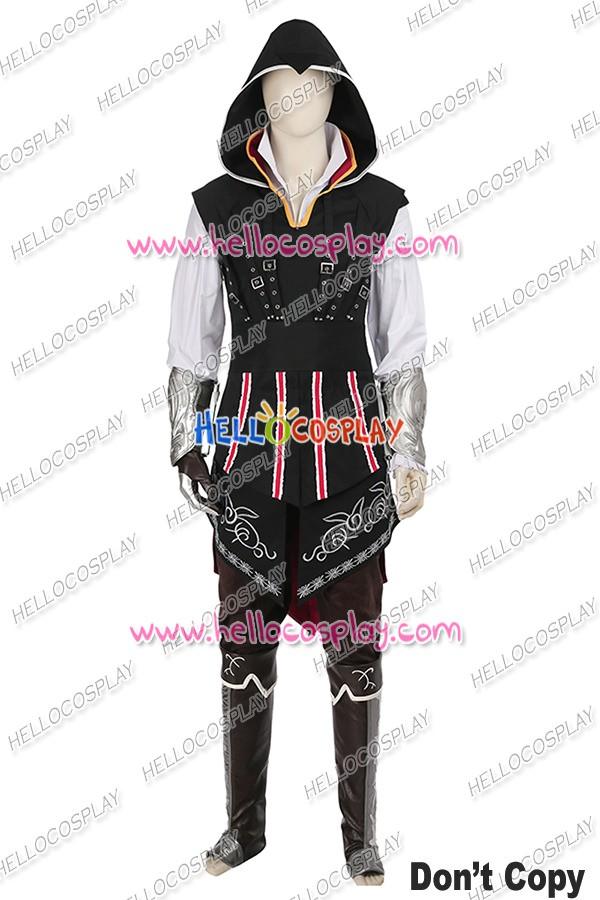 Assassin S Creed Ii Ezio Auditore Da Firenze Cosplay Costume Black