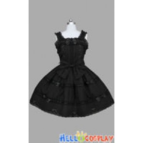 Gothic Lolita Punk Jumper Skirt Black Dress