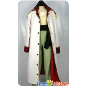 One Piece Cosplay Edward Newgate Costume Red Lining White Coat