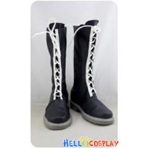 Katekyo Hitman Reborn Cosplay Shoes Mukuro Rokudo Boots Black