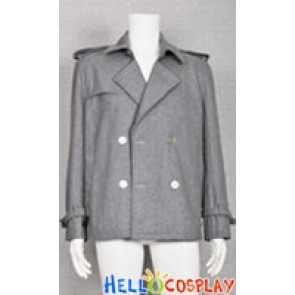 Twilight Costume Edward Cullen Grey Jacket Pea Coat