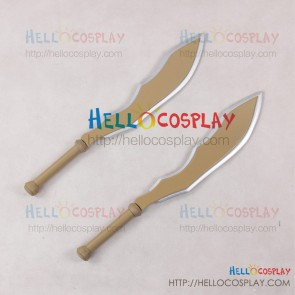 Rokka: Braves Of The Six Flowers Cosplay Hans Humpty Double Broadswords Weapon