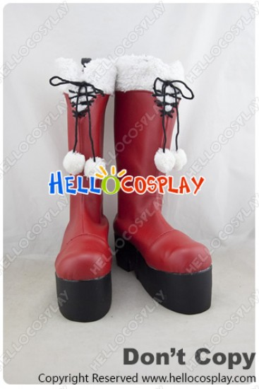 Date A Live Cosplay Shoes Kurumi Tokisaki Boots Red