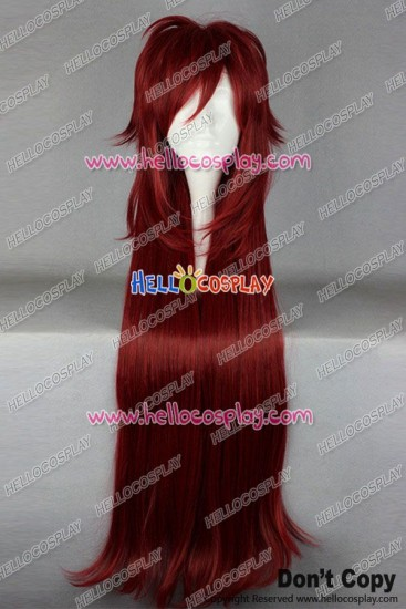 Black Butler Grell Sutcliff Cosplay Wig Red