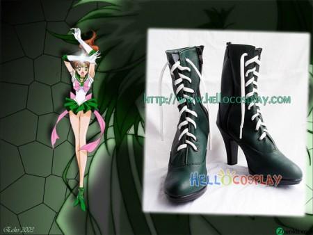 Sailor Moon Sailor Jupiter Cosplay Green Short Boots
