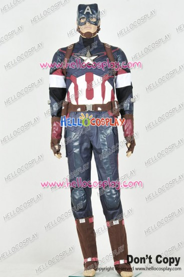 Avengers: Age Of Ultron Captain America Steve Rogers Cosplay Costume Uniform