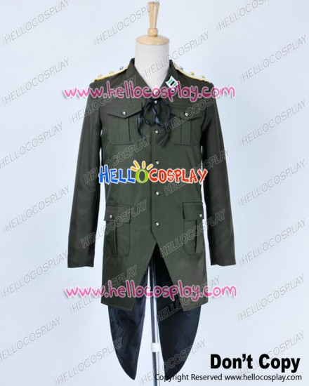 Strike Witches Cosplay Gertrud Barkhorn Costume Army Green Uniform