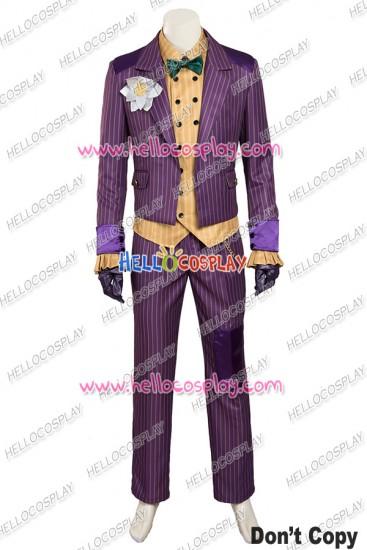 Batman Arkham Knight The Joker Cosplay Costume Purple