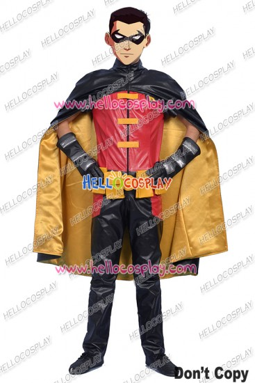 Young Justice Cosplay Robin Costume Jumpsuit