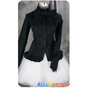 Gothic Lolita Cosplay Black Lace Blouse Uniform Costume