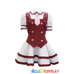 Niconico Cosplay Red School Girl Uniform Formula Costume