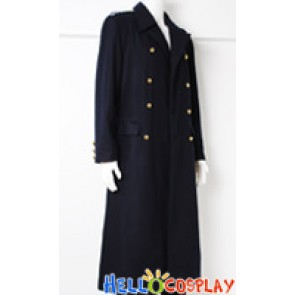 Torchwood Captain Jack Harkness Black Wool Trench Coat