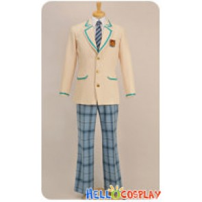 Storm Lover Cosplay School Boy Blue Plaid Pants Uniform Costume