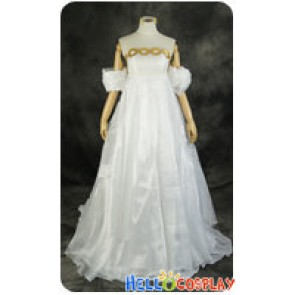 Sailor Moon Cosplay Usagi Tsukino Chiffon White Dress Costume