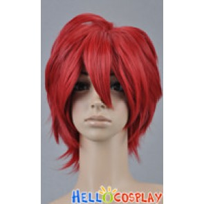 Wine Red Short Cosplay Layered Wig