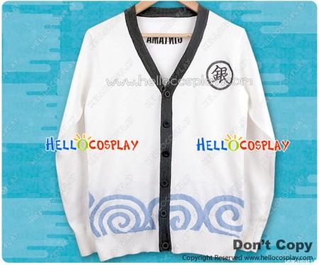 Gintama Silver Soul Cosplay Gintoki Sakata Knitwear Jacket Costume