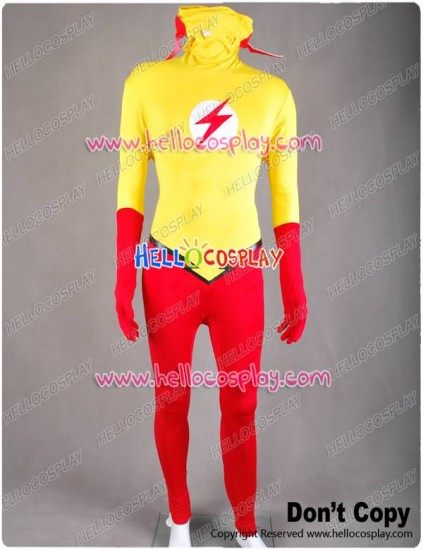 Young Justice Kid Flash Cosplay Costume