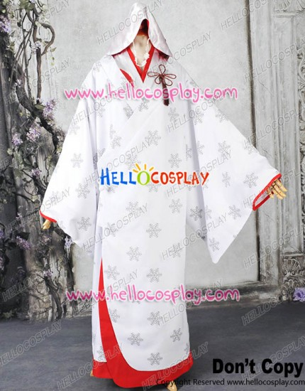 Vocaloid 2013 Cosplay Snow Miku Costume Hanayome Kimono