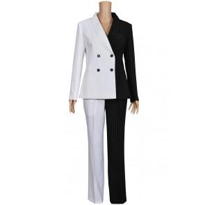 Lady Two Face Costume Uniform Suit
